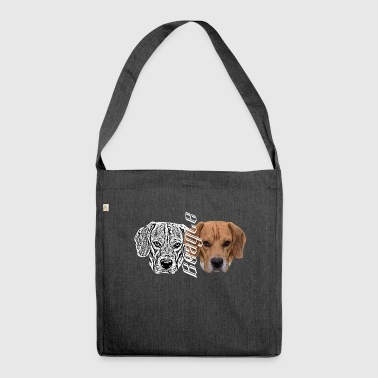Beagle, dog head, hunting, hunters, dog , dogs, dog - Shoulder Bag made from recycled material