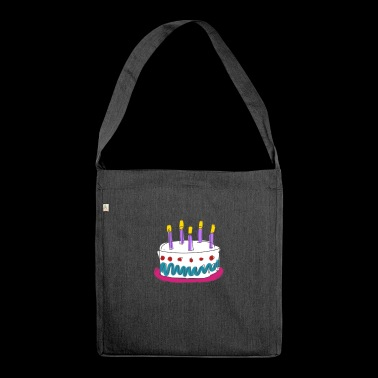 birthday - Schultertasche aus Recycling-Material