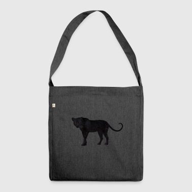 The black panther :) - Shoulder Bag made from recycled material