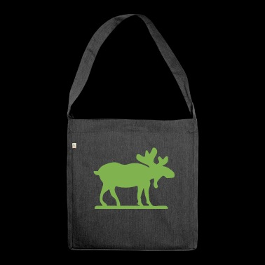 Moose Norway Sweden Finland Scandinavia - Shoulder Bag made from recycled material