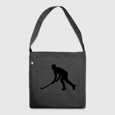 Hockey Field hockey Silhouette - Skuldertaske af recycling-material