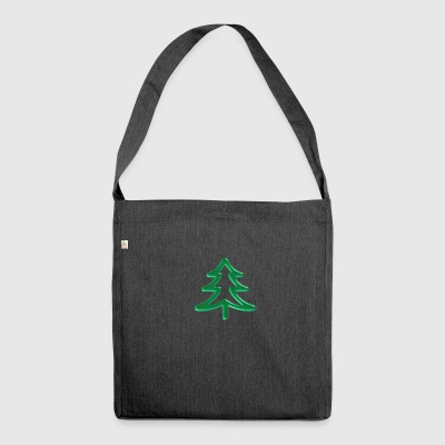 Xmas tree - Shoulder Bag made from recycled material