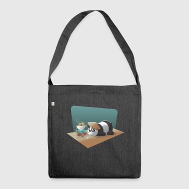 Panda China noodle tea - Shoulder Bag made from recycled material