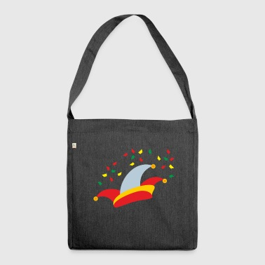 Carnival fool cap confetti - Shoulder Bag made from recycled material