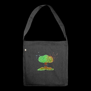 NUCLEAR TREE - Shoulder Bag made from recycled material