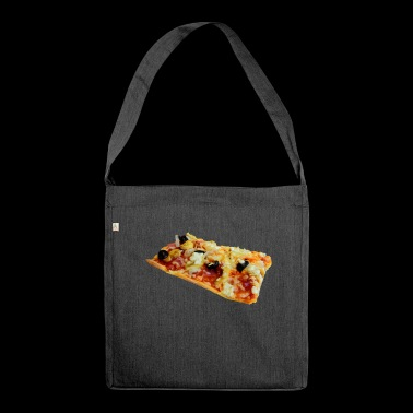 pizza pizzeria food food restaurant36 - Shoulder Bag made from recycled material
