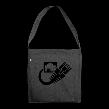 LAN Internet - Shoulder Bag made from recycled material