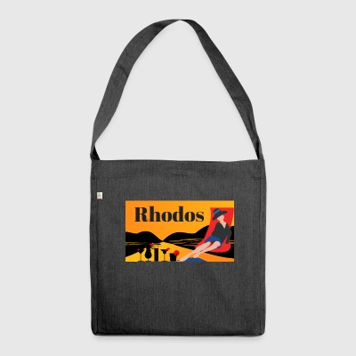Rhodes - Greek island - Shoulder Bag made from recycled material