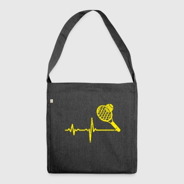 Gift heartbeat tennis yellow - Shoulder Bag made from recycled material