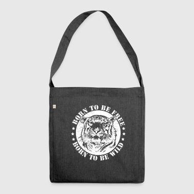 Birth dates and to be wild! - Shoulder Bag made from recycled material