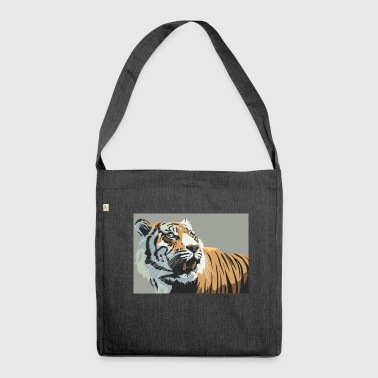 Tiger Illustration - Schultertasche aus Recycling-Material