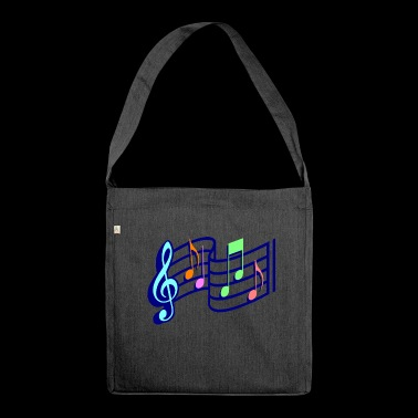Sheet music - Shoulder Bag made from recycled material