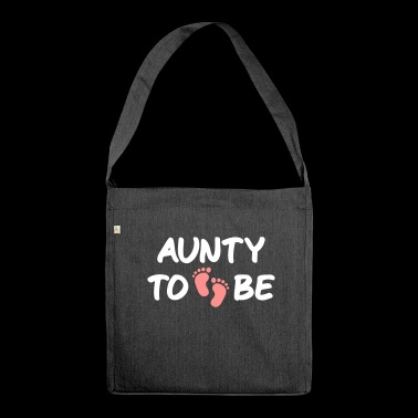 aunty to becoming aunt pregnancy baby - Shoulder Bag made from recycled material