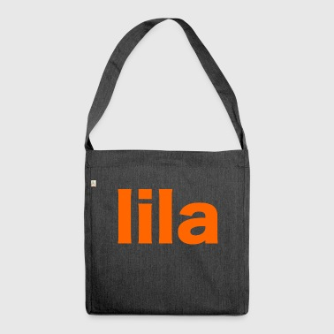 Farbe Lila/Orange - Geschenk Idee - Schultertasche aus Recycling-Material