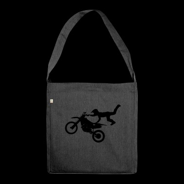 Motocross Stunt fliegend - Borsa in materiale riciclato