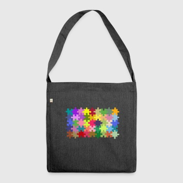 Puzzle - Schultertasche aus Recycling-Material
