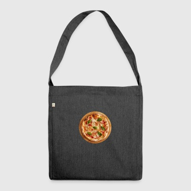 Leckere Pizza - Schultertasche aus Recycling-Material
