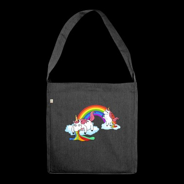 Pooping Puking Unicorn - Shoulder Bag made from recycled material