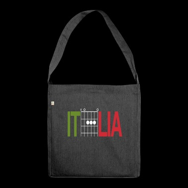 Italy colours in guitar chords - Shoulder Bag made from recycled material