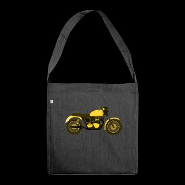 Yellow motorcycle - Shoulder Bag made from recycled material