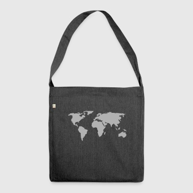 world map 146505 - Shoulder Bag made from recycled material