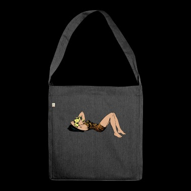 Pinup woman - Shoulder Bag made from recycled material