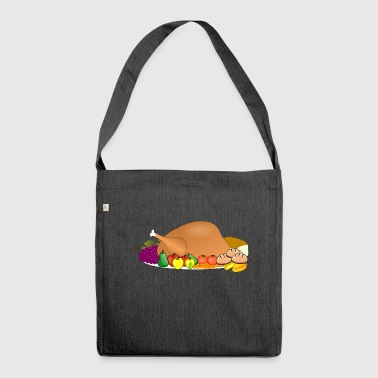 turkey food thanksgiving dinner fest - Shoulder Bag made from recycled material