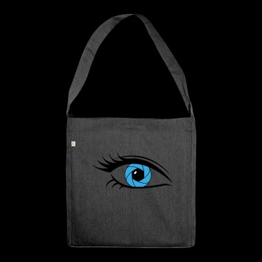 ciglia lunghe blue eye - Borsa in materiale riciclato