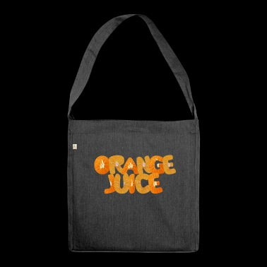 orange juice - Shoulder Bag made from recycled material