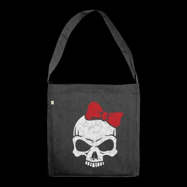 heavy metal girl - Shoulder Bag made from recycled material