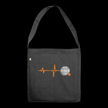 Gift Heartbeat Boule Petanque - Shoulder Bag made from recycled material