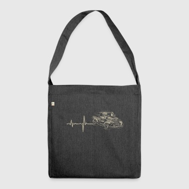 Shirt Gift Heartbeat Pickup - Shoulder Bag made from recycled material