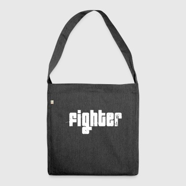 Fighter wit - Schoudertas van gerecycled materiaal