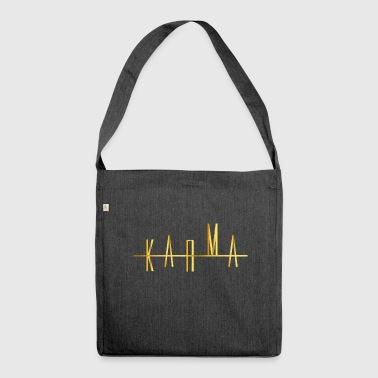 Karma in gold destiny and luck - Shoulder Bag made from recycled material