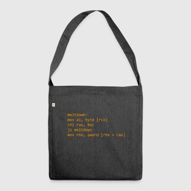 Meltdown Code - Shoulder Bag made from recycled material