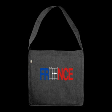 France Colours in Guitar Chords - Shoulder Bag made from recycled material