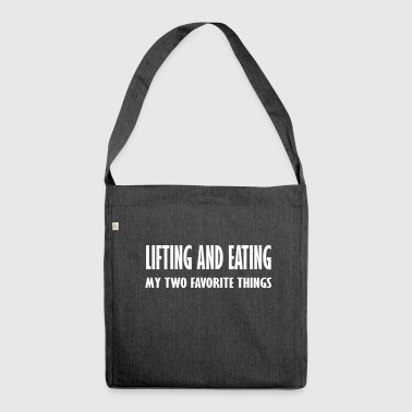 lifting and eating - Shoulder Bag made from recycled material