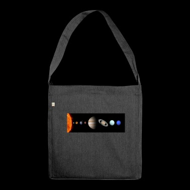 solar system - Schultertasche aus Recycling-Material