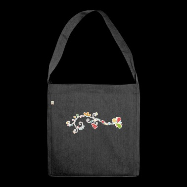 Flower decoration - Shoulder Bag made from recycled material