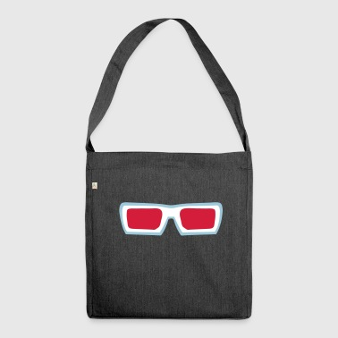 futuristic sun glasses 910 - Shoulder Bag made from recycled material