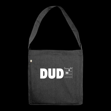 Dude in Guitar Chords - Shoulder Bag made from recycled material
