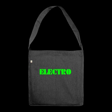 Electro - Shoulder Bag made from recycled material