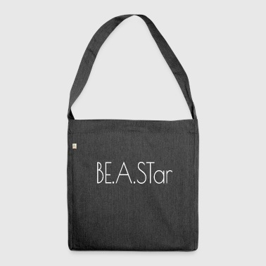 BEASTar text white - Shoulder Bag made from recycled material
