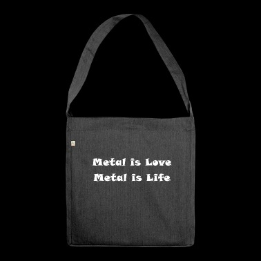 Metal Love Metallic Music Statement Gift Idea - Shoulder Bag made from recycled material