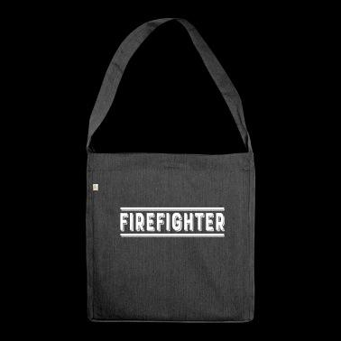Firefighter Fireman Firewoman Fire Fire Firefighter - Shoulder Bag made from recycled material