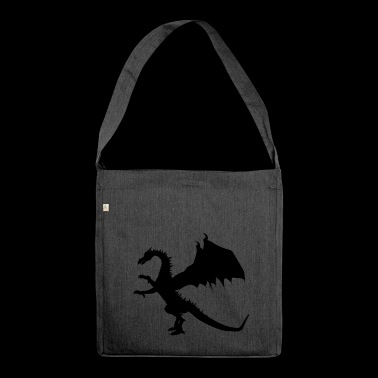 Standing dragon - Shoulder Bag made from recycled material