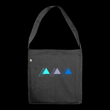 triple pyramiden - Schultertasche aus Recycling-Material