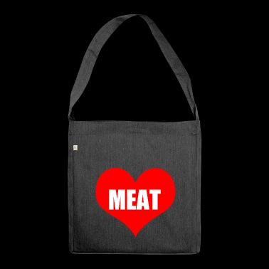 carne - Borsa in materiale riciclato