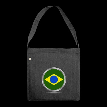 brazilian flag - Shoulder Bag made from recycled material
