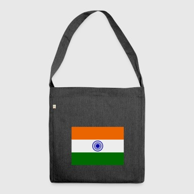 Indien-Flagge - Schultertasche aus Recycling-Material